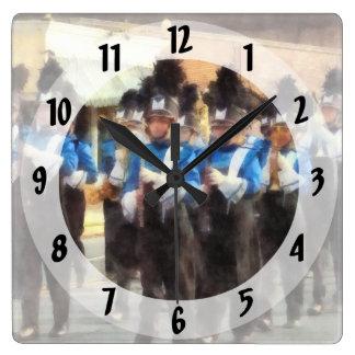 Marching Band Square Wall Clock