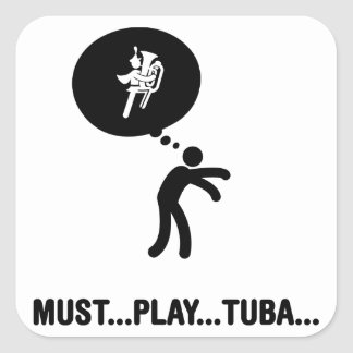 Marching Band - Tuba Player Square Sticker