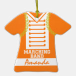 Marching Band Uniform Photo Orange Ornament
