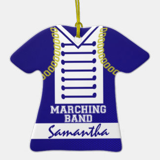 Marching Band Uniform Photo Double-Sided T-Shirt Ceramic Christmas Ornament