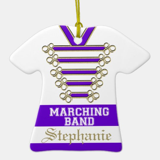 Marching Band Uniform with Photo Ceramic Ornament