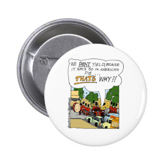 Marching Band Yields Funny Offbeat Cartoon Gifts Button