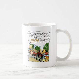 Marching Band Yields Funny Offbeat Cartoon Gifts Coffee Mug