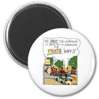 Marching Band Yields Funny Offbeat Cartoon Gifts Magnet