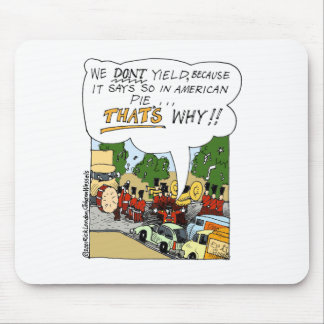 Marching Band Yields Funny Offbeat Cartoon Gifts Mouse Pads