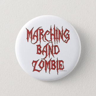 Marching Band Zombie Pinback Button