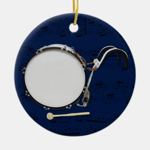 Marching Bass Drum _ Pick your color Ceramic Ornament