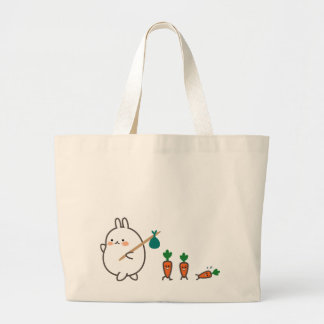 Marching Bunny Large Tote Bag