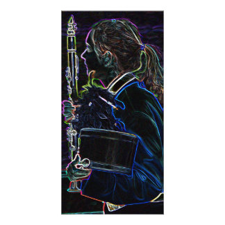 Marching Clarinetist Photo Card