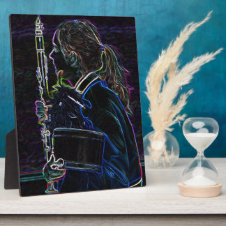Marching Clarinetist Plaque