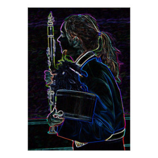 Marching Clarinetist Poster