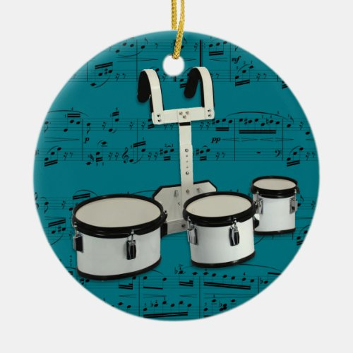 Marching Drums _ Pick your color Ceramic Ornament