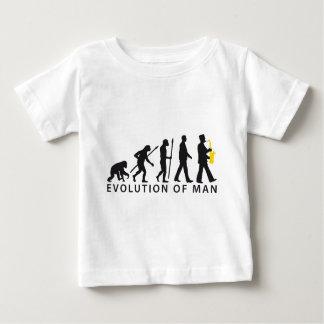 marching evolution of usted ligó saxophone player playera de bebé