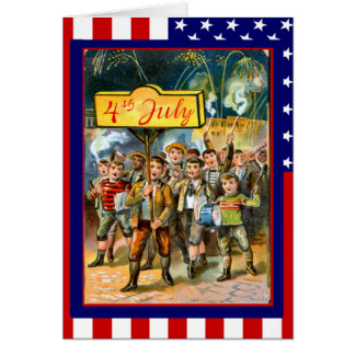 Marching for freedom greeting card