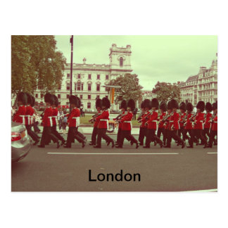 Marching guards at buckingham palace postcard