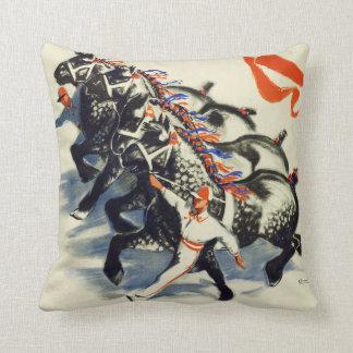 MARCHING HORSES ART DECO Cushion