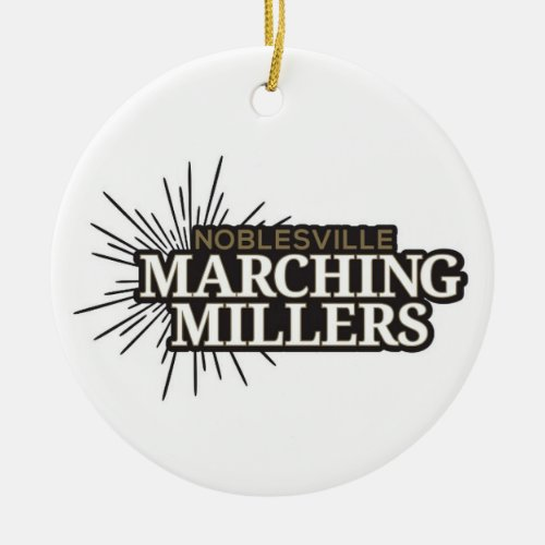 Marching Millers Round Ornament