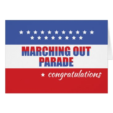 Marching Out Parade, Congratulations Card