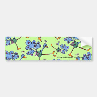 Marching Peacock collage Bumper Sticker