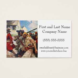 Marching Pirates Redcoat Illustration: Business Card