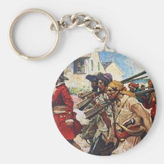 Marching Pirates Redcoat Illustration Keychain
