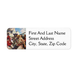 Marching Pirates Redcoat Illustration: Return Address Label