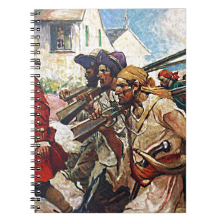 Marching Pirates Redcoat Illustration Notebook
