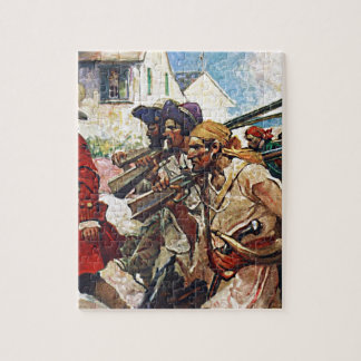 Marching Pirates Redcoat Illustration Puzzles