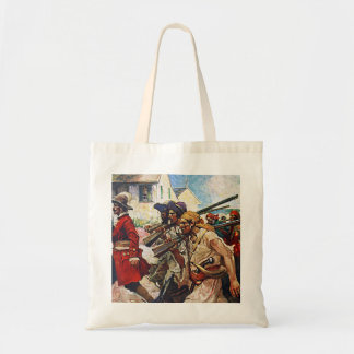 Marching Pirates Redcoat Illustration Tote Bag