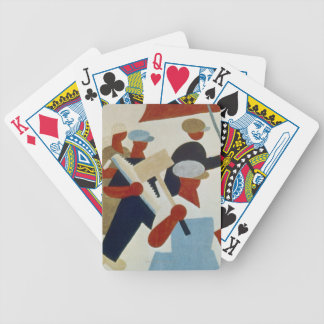 Marching Protestors Bicycle Playing Cards