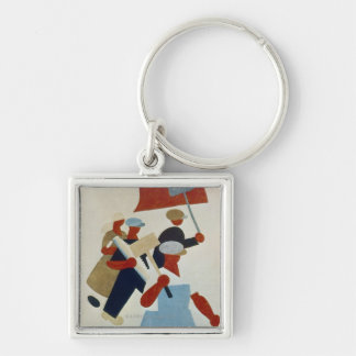 Marching Protestors Keychain