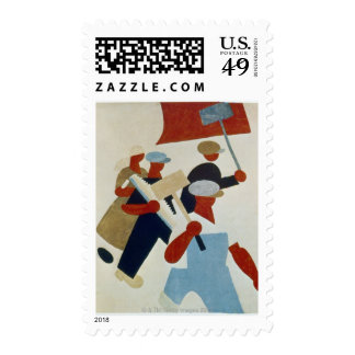 Marching Protestors Postage
