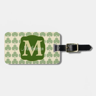 Marching Shamrocks Monogram Bag Tag