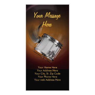 Marching snare drum flat card customized photo card