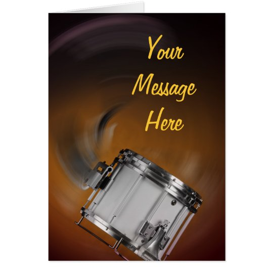 Marching Snare Drum on Gold Card