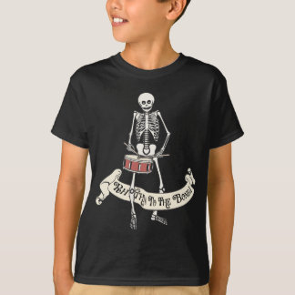 Marching Snare Drum Skeleton T-Shirt