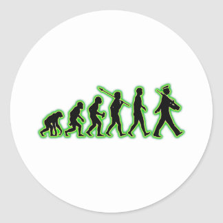 Marching Round Sticker