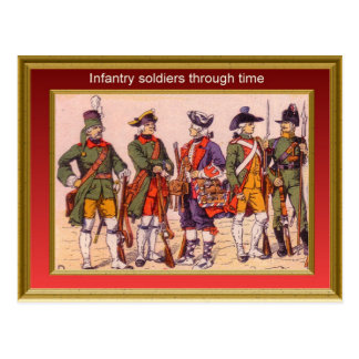Marching through history, Infantry 14 Postcard