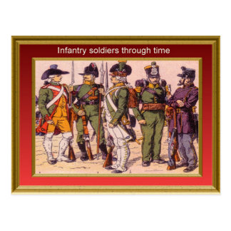 Marching through history, Infantry 3 Postcard