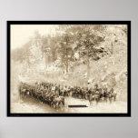 Marcho 8va caballería cerca de Fort Meade SD 1889 Poster