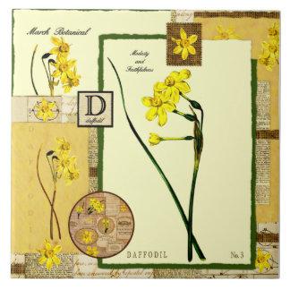 March's Flower Ceramic Tile