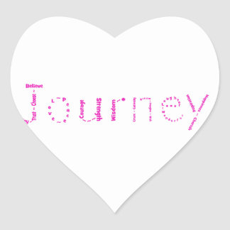 March's WoW - Journey - Pink Stickers