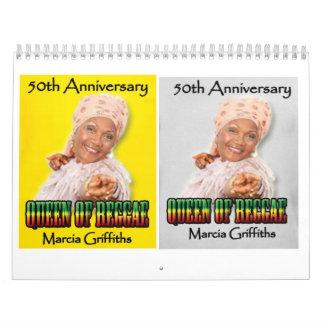 Marcia Griffiths el aniversario del reggae Calendario