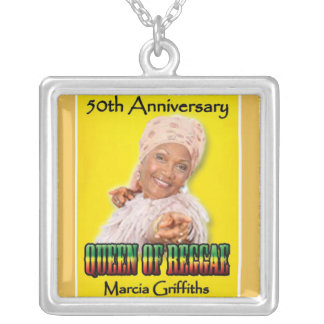Marcia Griffiths the Reggae Queen-50th Anniversary Silver Plated Necklace