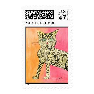 Marcia Marcia Marcia Cat Stamps