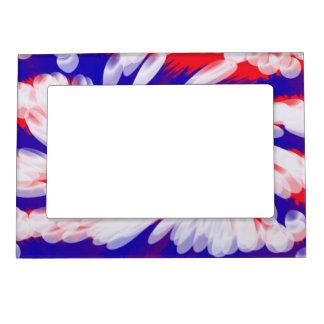 Marco abstracto azul blanco rojo patriótico de la  marcos magnéticos de fotos