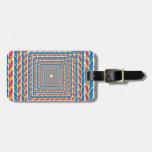 marco abstracto de la cuerda etiquetas para equipaje