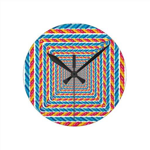 marco abstracto de la cuerda relojes de pared