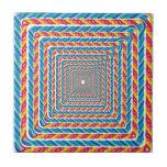 marco abstracto de la cuerda tejas