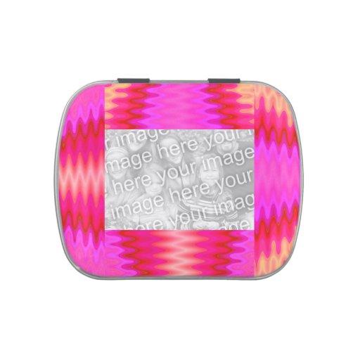 Marco abstracto rosado maravilloso de la foto frascos de dulces